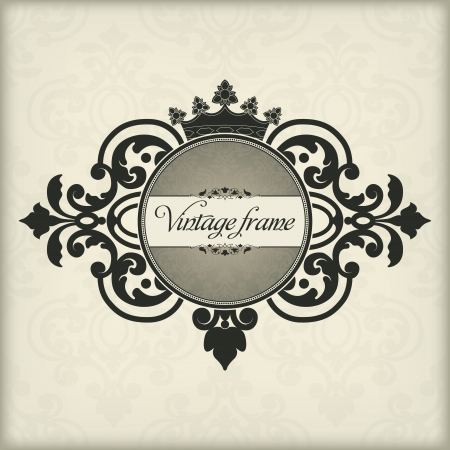The vector image Vintage frame with crown Stock Vector - 14483587