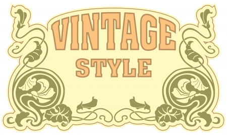 The vector image Vintage style label Stock Vector - 14483564