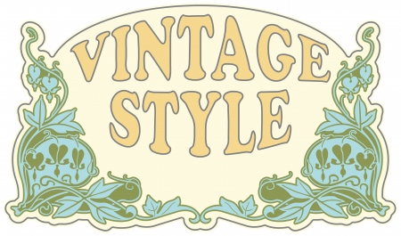 The vector image Vintage style label Vector