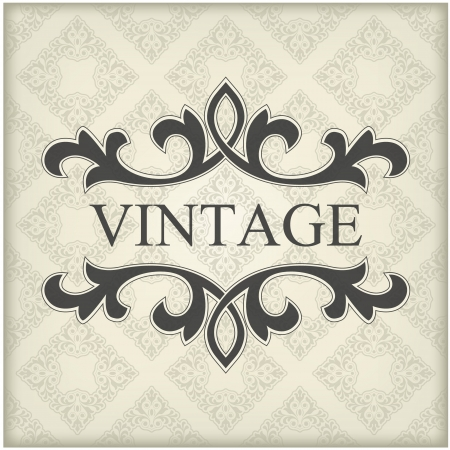 The image of Vintage template with floral frame Stock Vector - 14525794