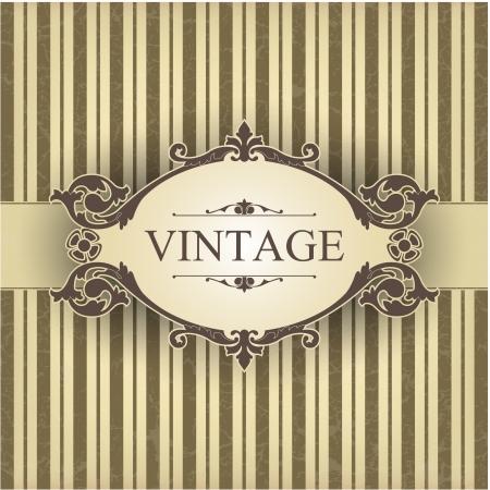 vintage postcard: The image Vintage frame Illustration
