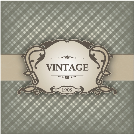 The image Vintage frame Vector