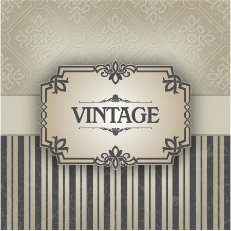anniversaire mariage: Le Vintage frame d'image