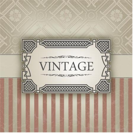 The image Vintage frame Vector