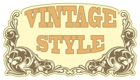 clock radio: The image Vintage style label Illustration