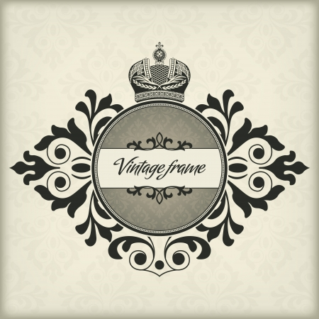 The image Vintage frame with crown Stock Vector - 14836239
