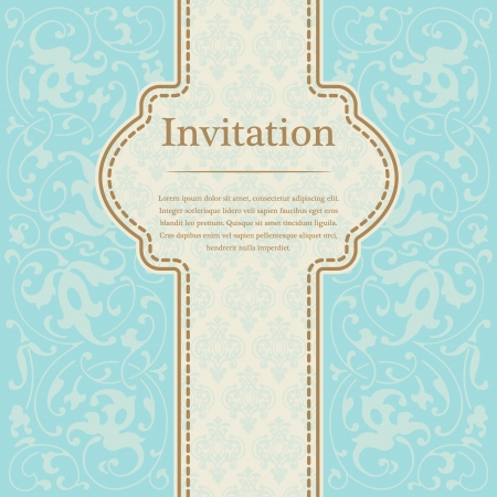 The image of Vintage background for invitations Stock Vector - 15196029