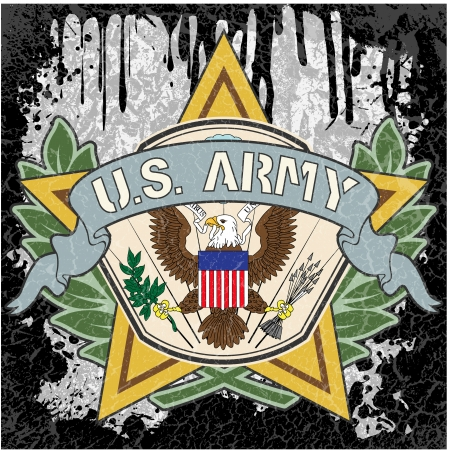 special forces: The vector image of color American army symbol
