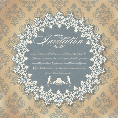 The image of Vintage background for invitations Stock Vector - 15151298