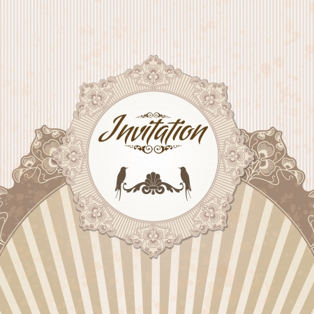 rococo: The image of Vintage background for invitations