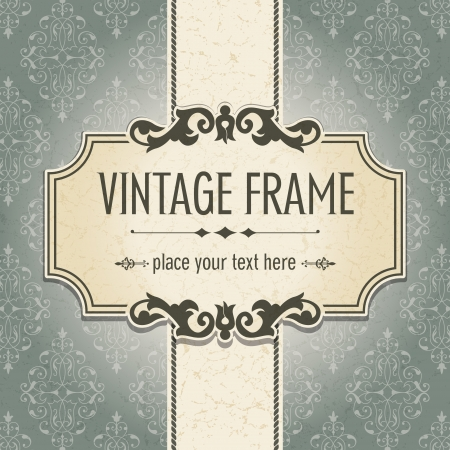 vintage postcard: The image Vintage frame Illustration