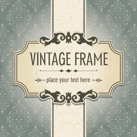 vintage borders: The image Vintage frame Illustration