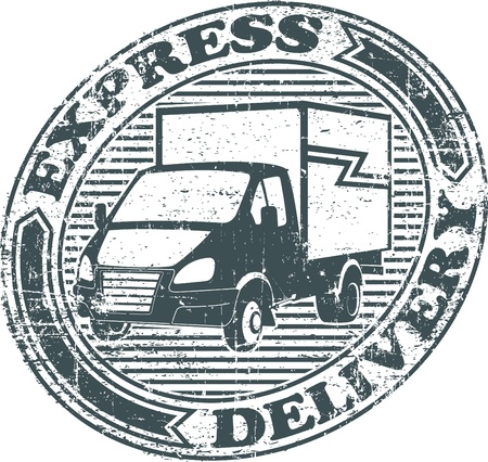 The image of Express delivery stamp Vector