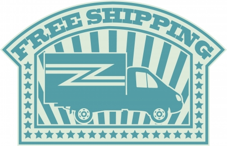 The image of Free shipping symbol Vector