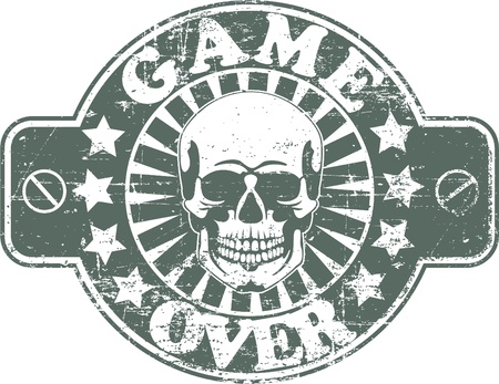 The vector image of Game over stamp