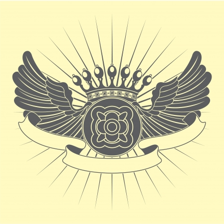The vector image Heraldic vintage symbol Stock Vector - 15285270