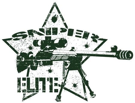 �lite: L'immagine del francobollo Sniper Elite Vettoriali