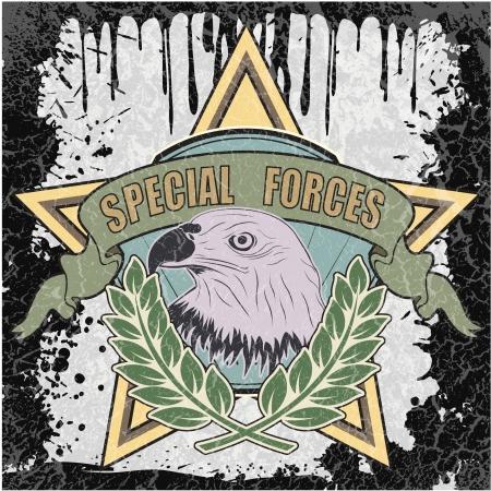 estrellas  de militares: La imagen del símbolo de color fuerzas especiales