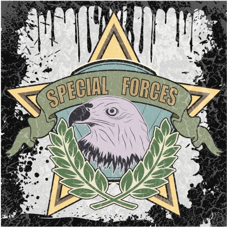 special forces: The image of color Special forces symbol Illustration