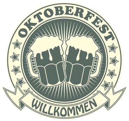Het beeld van Zegel met het beeld van een biertje symbool