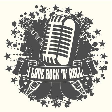 concierto de rock: El símbolo de la imagen me encanta un rock n roll