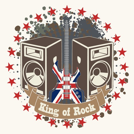 The image of Symbol king of rock Vector