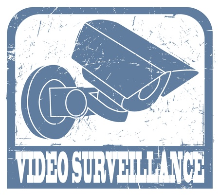 The image Video surveillance stamp Vector