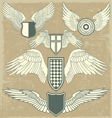 The image Vintage heraldic wings Stock Vector - 15367754