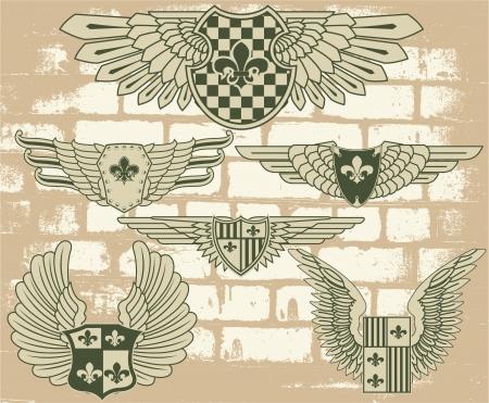 The image Vintage heraldic wings Stock Vector - 15367784