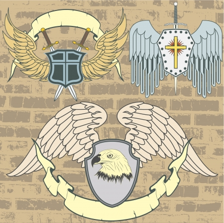 The image Vintage heraldic wings Stock Vector - 15367766