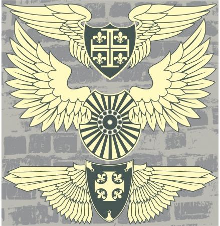The image Vintage heraldic wings Stock Vector - 15367752