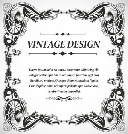 vignette: The image Vintage style design Illustration
