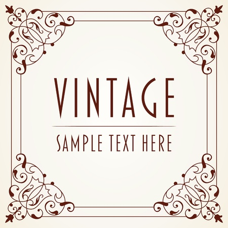 fancy border: The image Decorative Vintage Frame Illustration