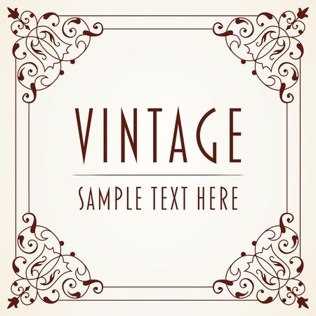 FANCY BORDER: The image Decorative Vintage Frame Illustration