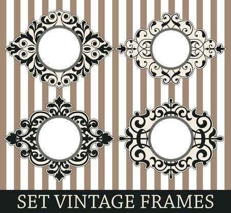 soiled: The image Set vintage frames Illustration