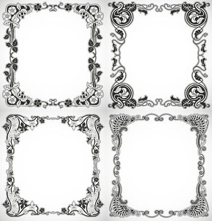 The image Set of vintage style design Illustration