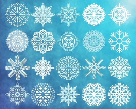 The  image of Set of snowflakes Stock Vector - 15634688