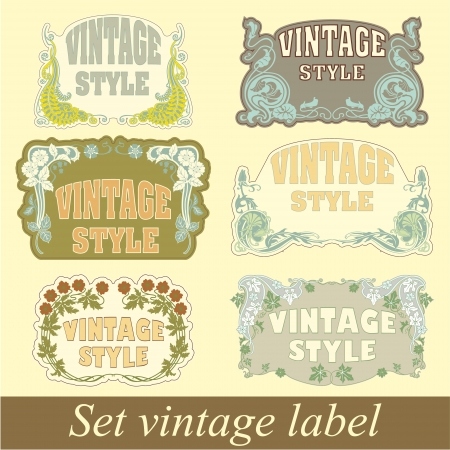 The image of Set of vintage style Vector