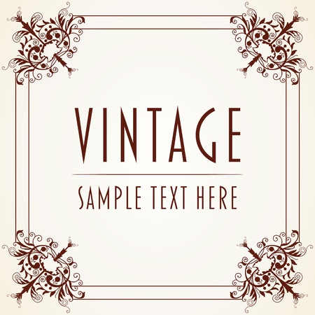 The  image Decorative Vintage Frame Vector