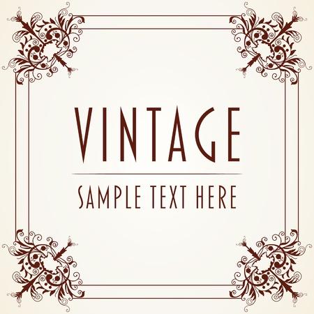 The  image Decorative Vintage Frame