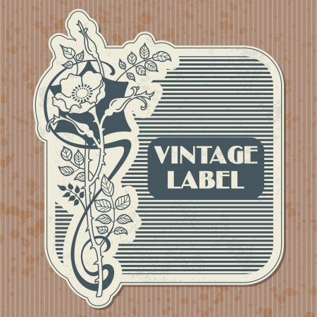 The  image Vintage label Vector