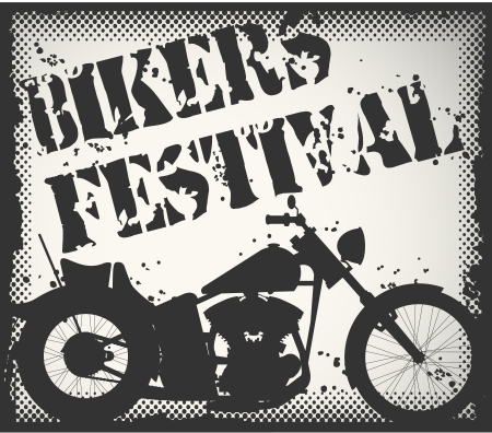 The image of Bikers festival stamp Vector