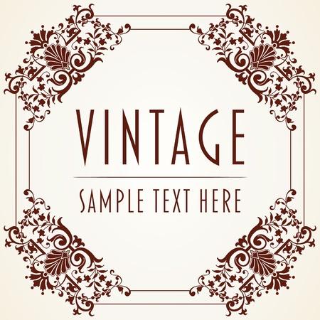 The image Decorative Vintage Frame Illustration