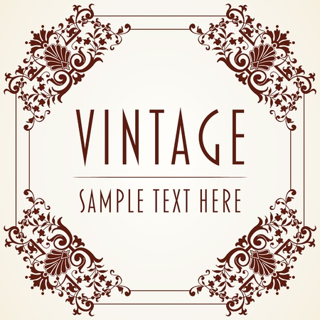The image Decorative Vintage Frame Stock Vector - 15855988
