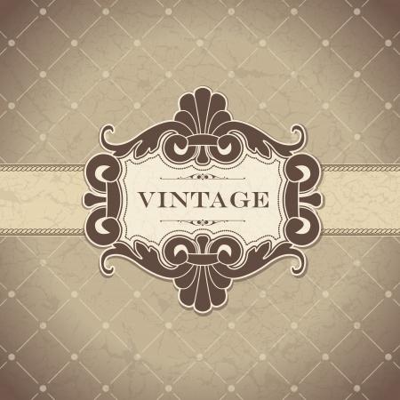 luxury: The image Vintage frame Illustration