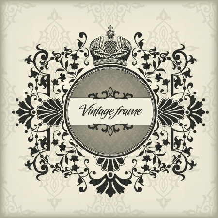 The image Vintage frame with crown Stock Vector - 15855990