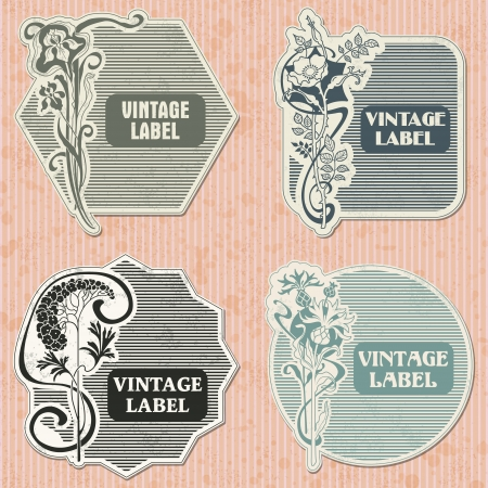 The image Set of vintage label Stock Vector - 16041085
