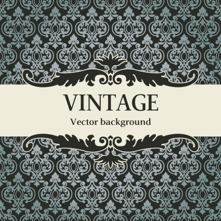 rasterized: The vector image vintage vector background