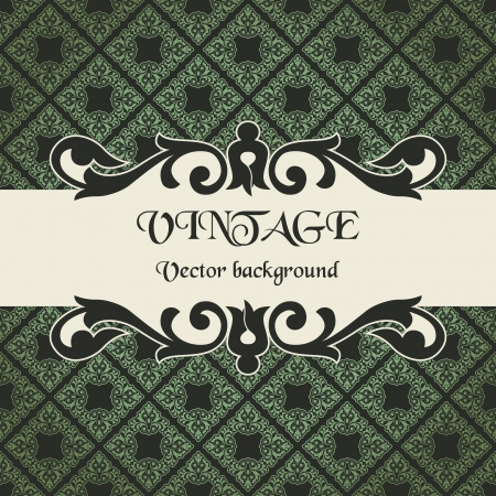 scroll design: The vector image vintage vector background