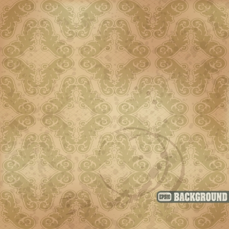 image of color Seamless floral pattern in vintage style Stock Vector - 16517142